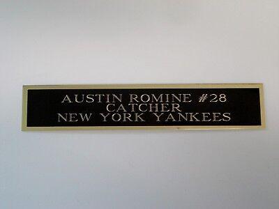 Rational Austin Romine Yankees Nameplate For A Baseball Bat Or Jersey Case 1.5 X 6 Strengthening Waist And Sinews Autographs-original