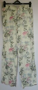 New-Marks-amp-Spencer-Floral-Print-Linen-Blend-Trousers-Holiday-Summer-Size-8