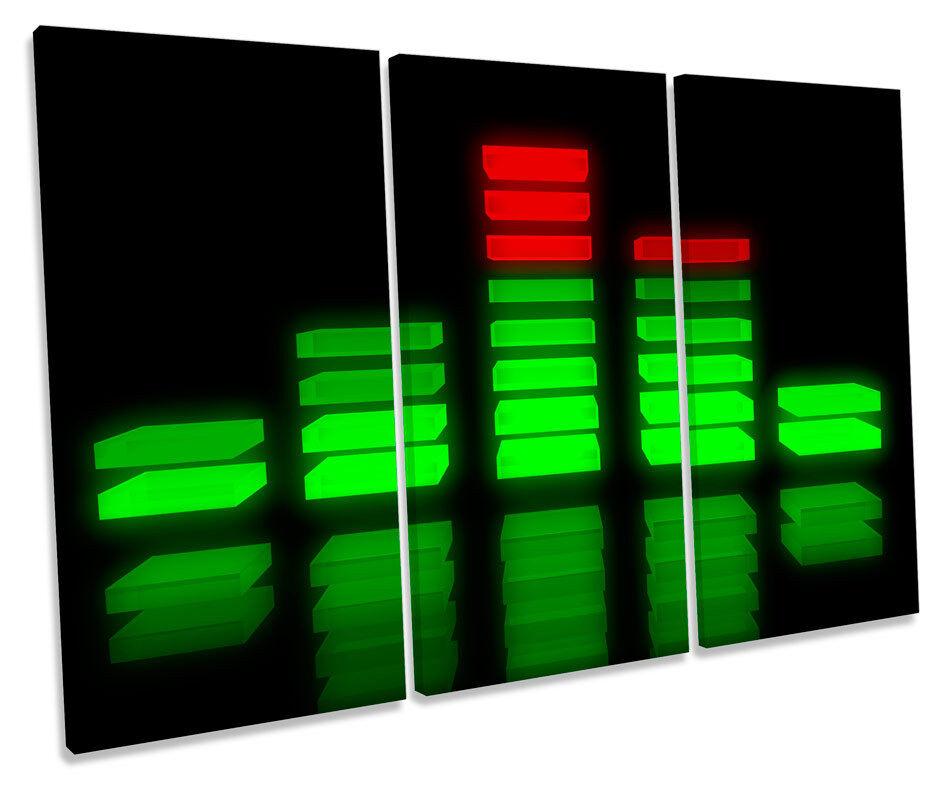 Musica Musica Musica Equalizer DJ foto TREBLE TELA Wall Art Print 2528f3