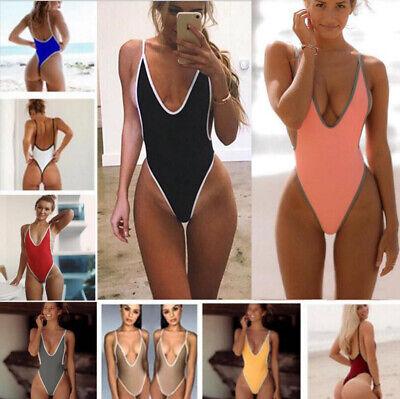 sleek outlet quality Women Bikini One-Piece Swimwear Sexy Sling Suit Thong Swimsuit Leotard  Monokini   eBay