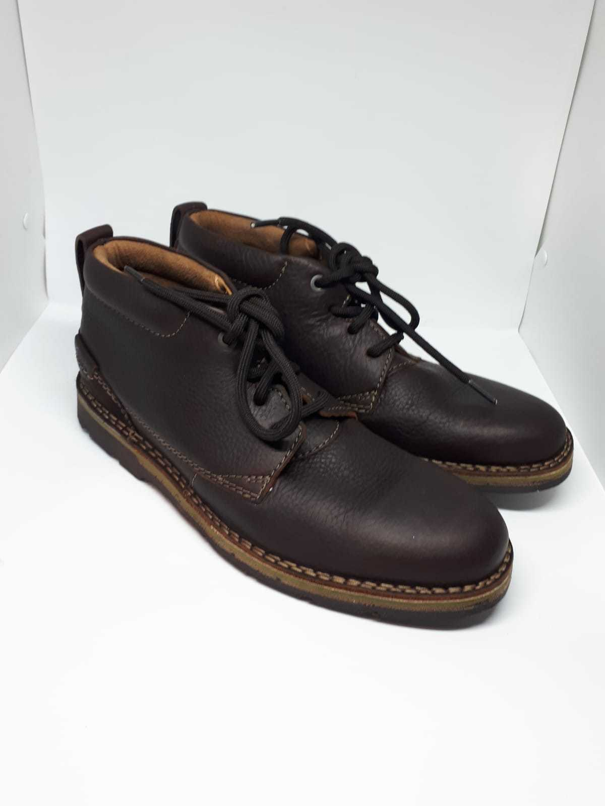 NEW CLARKS - Collection  Uomo Dark Braun Leder Schuhe - CLARKS UK Größe 7G e890c7