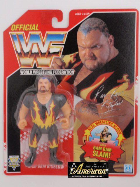 WWF Wwe Bam Bam Bigelow Vintage Hasbro Serie 1994 Figura de Acción 8 si usar en Blister Raro