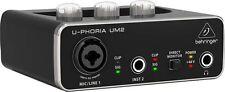Behringer UM2 U-Phoria USB Audio Interface with switchable +48V phantom power