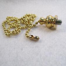 """Fan Pull 17"""" Beaded Chain to Make Custom Fan Pull  from Standard Finial (FPC2)"""