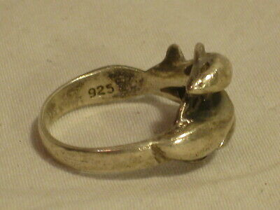 Oxidized Dolphin Filigree Water Animal Ring .925 Sterling Silver Band Sizes 6-9