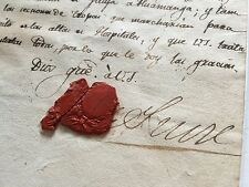 Nice 1825 Historical document by ANTONIO JOSE DE SUCRE SIGNED COA BOLIVAR PERU