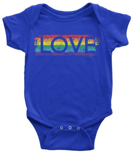 Gay Pride Rainbow Love Infant Bodysuit Lesbian LGBT