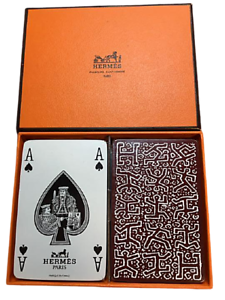 Hermes-Faubourg-Saint-Honore-PARIS-playing-cards-in-Japan-Ginza-30-Year-Vintage