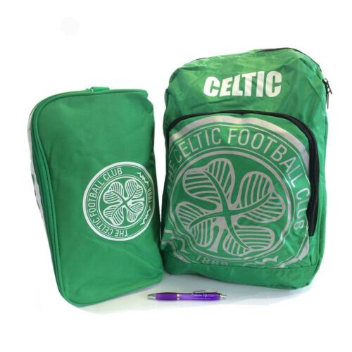 Retour à l/'école avec celtic fc sac à dos et boot sac plus stylo sans
