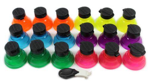 19pcs Caps Snap Bottle Top peut couvrir Fizz COKE boisson soda couvercle bouchon réutilisable jus