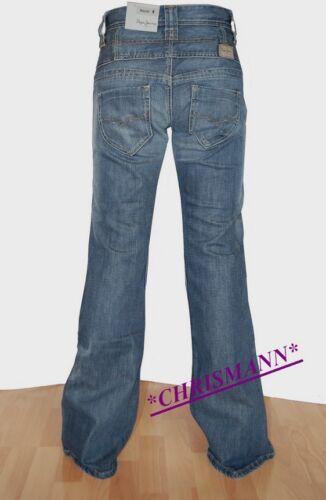Pepe Jeans London High Waist Dazzle NEU Hose W26,W27,W28 L32 Damen Stretch Blau