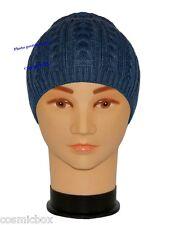 BONNET classique homme hiver bleu marine 100% acrylique taille unique blue hat