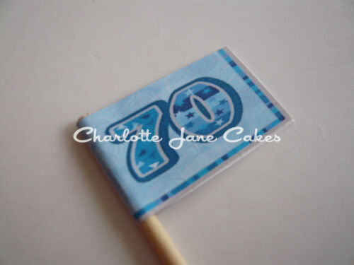 70TH anniversaire 20 cupcake flags//toppers