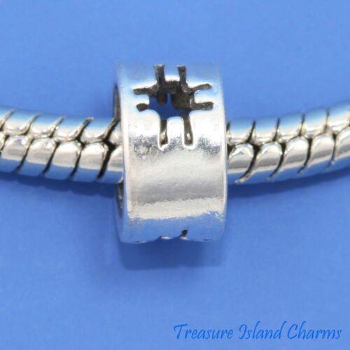 Zia Sun symbole .925 Solid Sterling Silver European Spacer Bead Charm euro