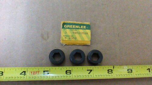 GREENLEE 52352 3//4-16TPI X 3//8 HEX BORE JAM SCREWS // 624-629 P//N 90523520 3