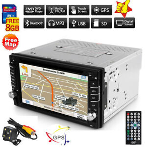6 2 autoradio mit gps navigation navi bt touchscreen dvd cd usb doppel 2 din eu ebay. Black Bedroom Furniture Sets. Home Design Ideas
