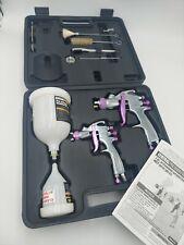 Central Pneumatic 2 Piece Professional Automotive Hvlp Spray Gun New In Case