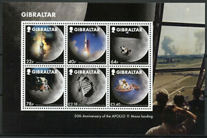 Gibilterra-Francobolli-2019-Gomma-integra-non-linguellato-Atterraggio-sulla-Luna-Apollo-11-50th