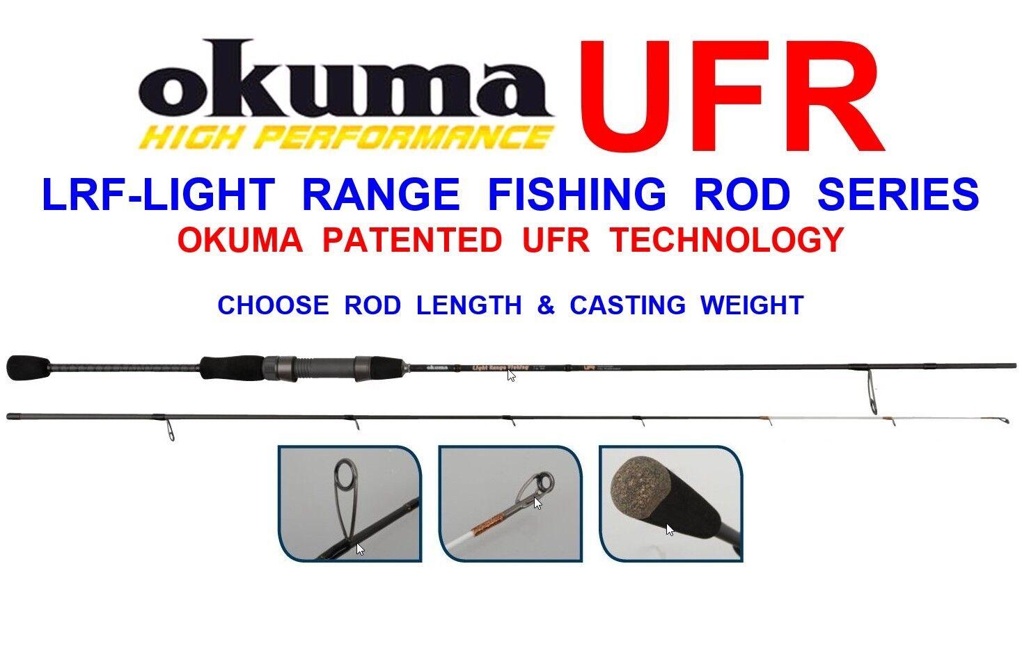 OKUMA LRF UFR LIGHT RANGE 2pc FISHING ROD 24T CARBON FOR GAME SEA SPIN SPINNING