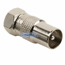 MALE COAX PLUG to F TYPE MALE PLUG TV Aerial Sky Connector Adapter