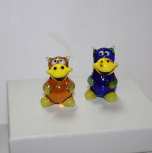 Art Blown Glass Murano Figurine Glass Figurine Hippopotamus #1