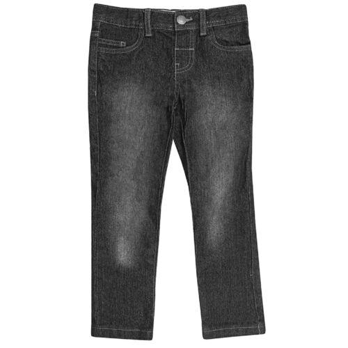 Boys Blue Black Wash Denim Contrasting Brown Stitching Cotton Skinny Jeans2-6yrs