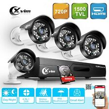 XVIM 4CH 1080N Home Security Camera System Outdoor Video Monitoring CCTV Kit HDD