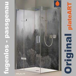 das bild wird geladen eck duschrueckwand rueckwand dusche alu fliesenersatz nebel modernes - Aluminium Ruckwand Dusche 2
