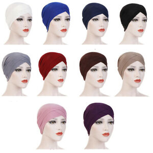 Cross-Turban-Cancer-Chemo-Hat-Muslim-Hijab-Caps-Hair-Loss-Women-039-s-Head-Scarf