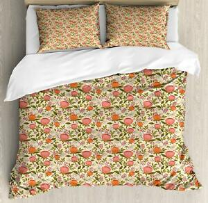 Peach Color Duvet Cover Set Twin Queen King Sizes With Pillow Shams