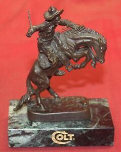 COLT Firearms Factory Solid Bronze Statue 1999 RARE Frederic Remington