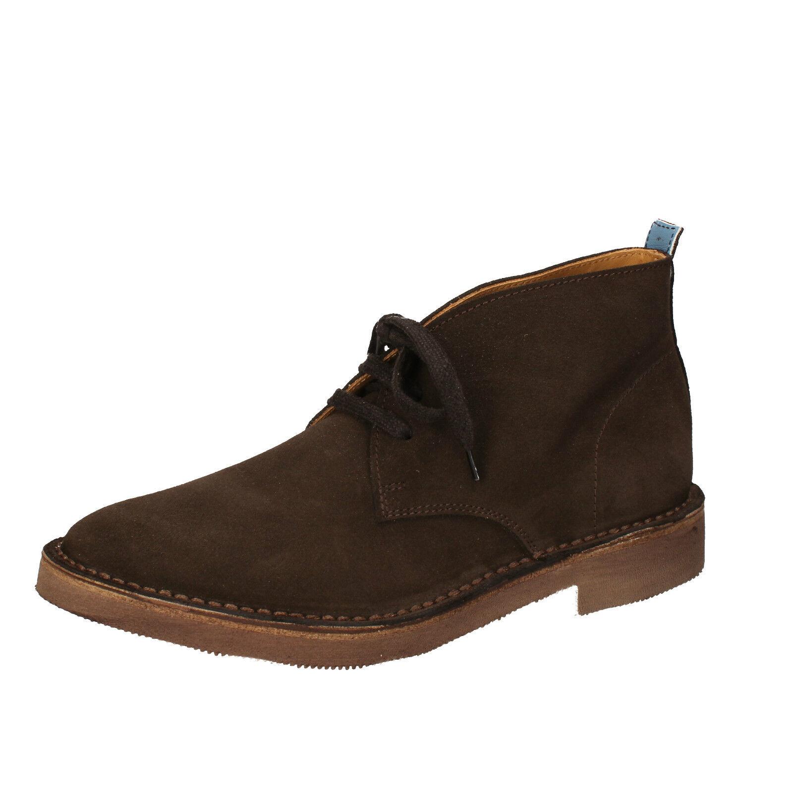 Herren schuhe MOMA 45 EU desert boots braun wildleder AB331-H
