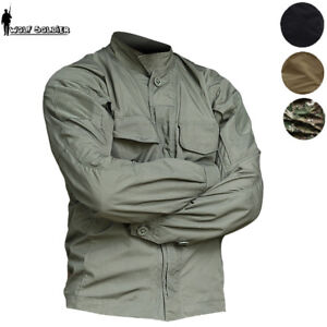3c3433b8404a5 Image is loading Outdoor-Military-Mens-Tactical-Shirt-Jacket-Army-Combat-