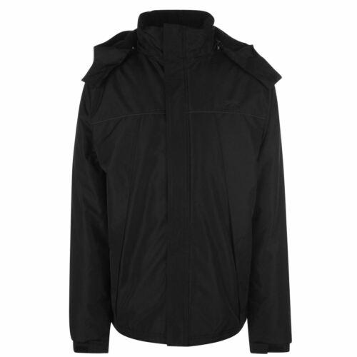 Slazenger Météo Veste Homme Gents Doublé manteau femme pleine longueur manches zippée à capuche