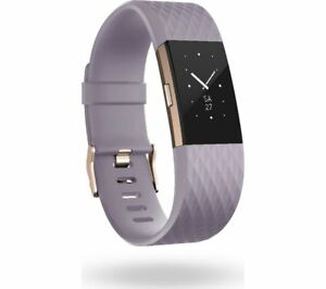FITBIT Charge 2 Small Waterproof 5 Day Battery Life Lavender & Rose Gold