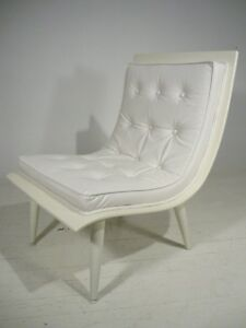 Miraculous Details About Vintage White Mid Century Modern Bentwood Tufted Scoop Chair Baughman Era Gmtry Best Dining Table And Chair Ideas Images Gmtryco