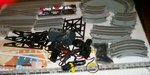 RARE-BIG-LOT-OF-VINTAGE-HO-TYCO-TURBO-TRAINS-SLOT-CAR-TRAIN-TRACKS-amp-CARS