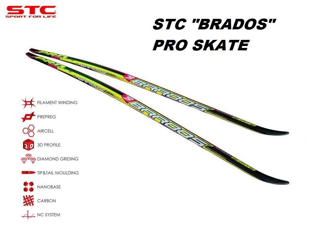 STC Brados Pro Skate Ski Ski Ski (PTEX 4000) Skating Ski 187 cm 397110