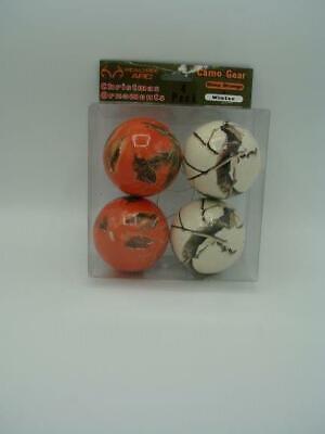 Realtree APC Camo Christmas Ball Ornaments Blaze Orange ...