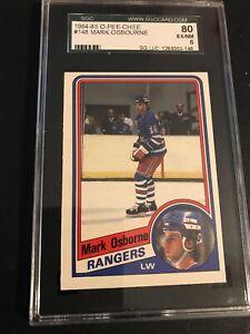 1984-85-RANGERS-NHL-O-Pee-Chee-148-Mark-Osbourne-SGC-Graded-80-EX-NM-6