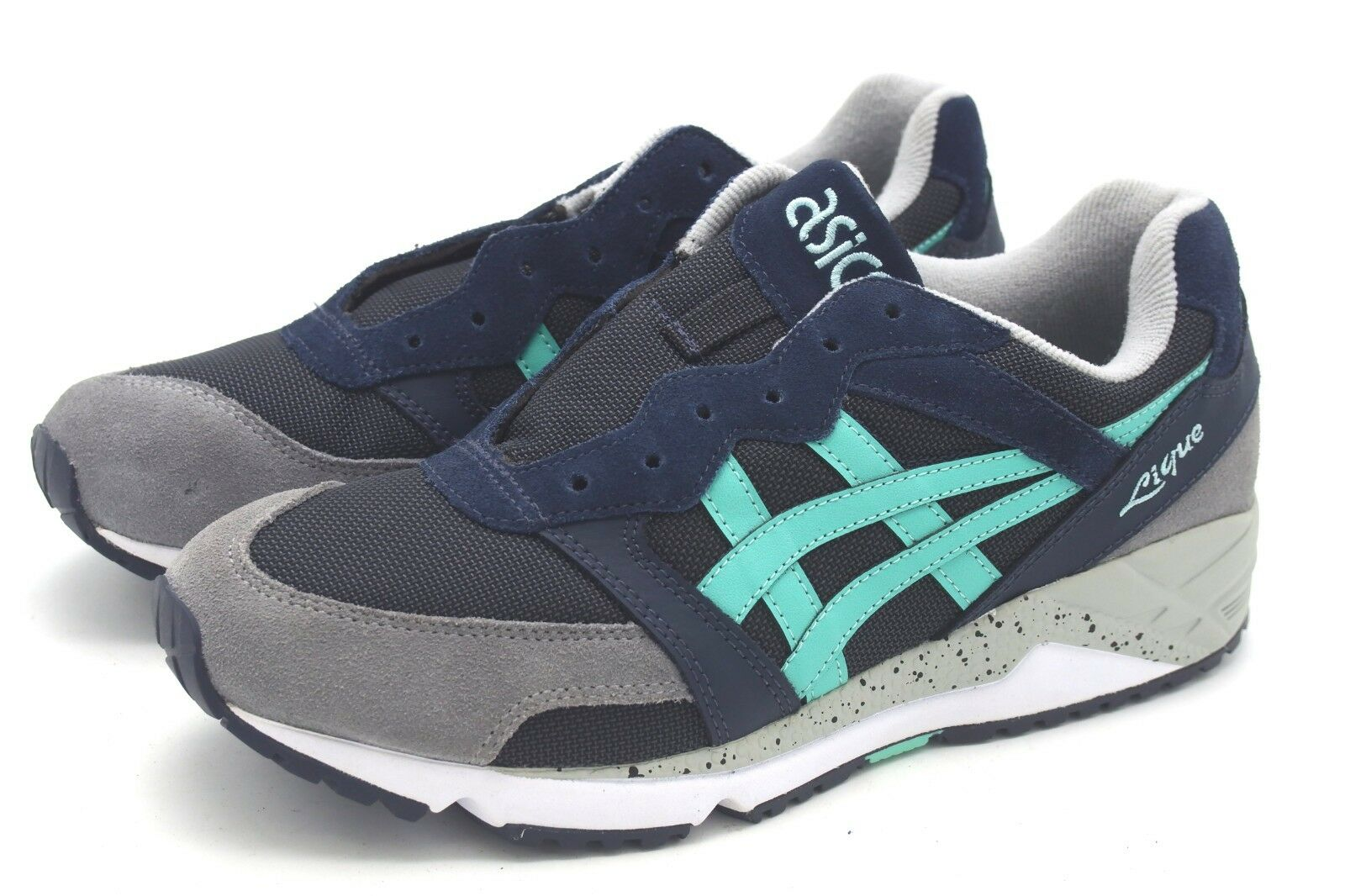 J7553 New Women's Asics Gel Lique India Ink Cocatoo Running shoes 9 M
