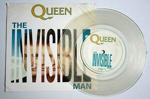 EX-EX-QUEEN-THE-INVISIBLE-MAN-7-034-CLEAR-VINYL-DISC