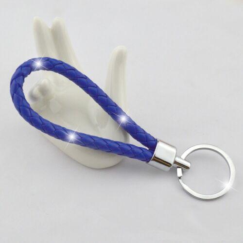 Schlüsselanhänger Geflochten Leder Schlüsselring Anhänger Keychain Holder Farben