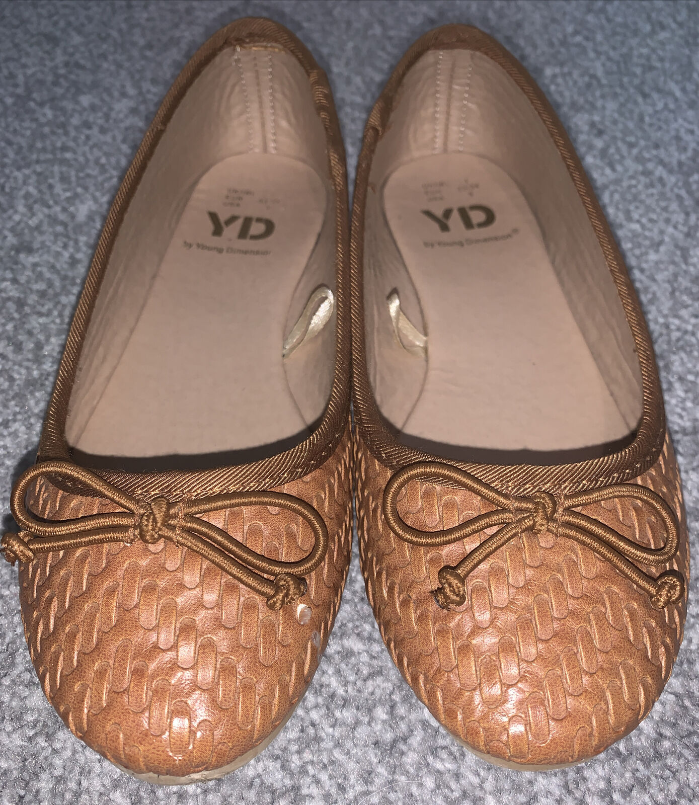 Womens Flat Shoes Brown Size 1