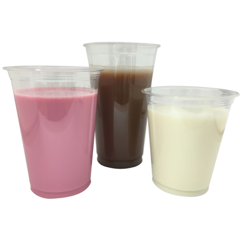 Jetables en plastique transparent smoothie dôme cups, en dôme smoothie couvercles & paillettes (12oz,16 oz,20 oz) 54119e