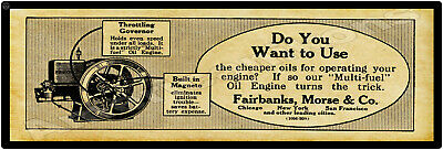 """6/"""" x 18/"""" Fairbanks Morse Diesel Engines Marquee Style New Metal Sign"""