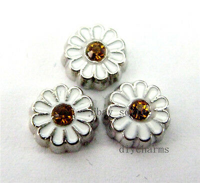 10pcs sunflower Floating Charms Fit Living Memory Floating Locket FC526