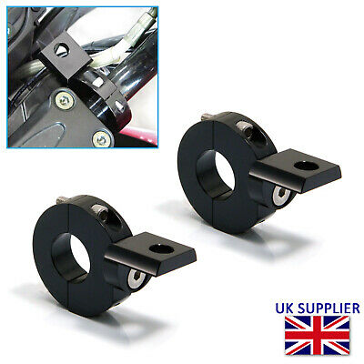 PAIR OF CLASSIC MINI SALOON SPOTLIGHT BRAKETS  MADE FROM STAINLESS STEEL.