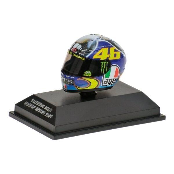 1:8 AGV Minichamps Valentino Rossi Rossi Rossi Helmet Casco MotoGP Misano 2009 VERY RARE NEW 1f7a0e