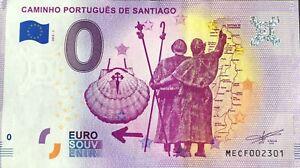 BILLET-0-EURO-CAMINHO-PORTUGUES-DE-SANTIAGO-2019-1-NUMERO-DIVERS